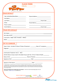 PawPaw Pet Insurance Claim Form