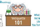 Vetiquette, Veterinarian, Tips when visiting the vet, vet visit, visit the vet, annual check up