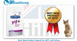 Best New Product Pet Food Award for Hill's y/d Feline